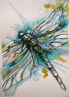 art and dragonfly afbeelding