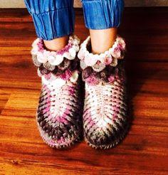 zapaticos lana mujer