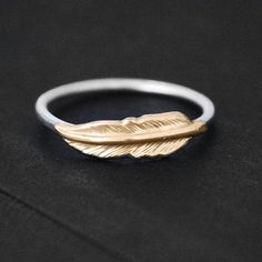 Feather Ring by Nautical Wheeler Jewelry from Nautical Wheeler Jewelry on OpenSky