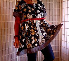 41  XL Feminine Mini Dress Lolita Jeans Top Women's by ArtzWear