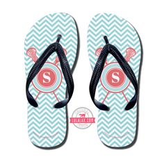 Whether you are needing to recover from a long practice or game or wanting to rep your favorite sport our Girls Lacrosse Flip Flops are for you. LuLaLax.com