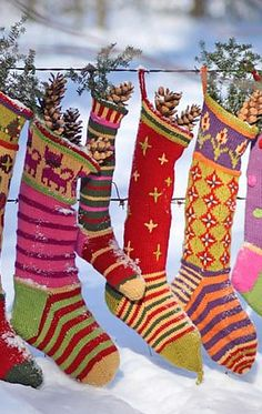 Christmas stockings are always cheerful