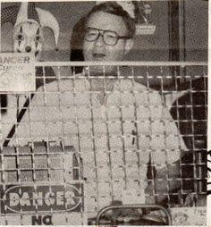 Owner Dennis R. Atkinson at Memory Lane Arcade July 9, 1993.  Frankenmuth News