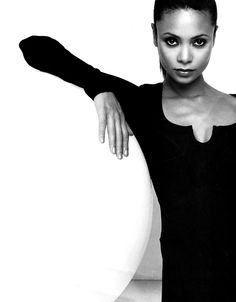 "British actress Thandie Newton. shone on screen in her very first film: ""Flirting"""