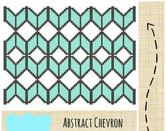 Anchor with Teal Chevron Cross Stitch Pattern by tinymodernist