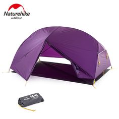 140.61$  Watch now - Naturehike 20D Nylon Double Layer Outdoor Camping Tents 2 person Three Season Rain Proof Aluminum Alloy Pole Hiking Tents 1.81kg  #magazineonlinewebsite