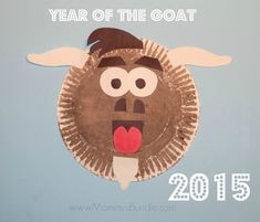 Paper plate goat craft to celebrate the New Year (2015) with kids!