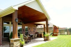 Gable Roof Patio Cover in Houston   Patios, Backyard and Porch