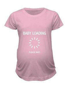 b56ebbdb796 Items similar to Baby Loading Please Wait... - Ladies  Maternity T-shirt on  Etsy