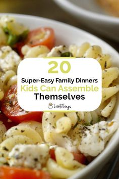 20 Super-Easy Family Dinners Kids Can Assemble Themselves: From baked potato bars to DIY pizzas, there are plenty of ways to get the little ones involved with making dinner.