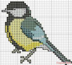 Птицы и птички. Схемы вышивок крестиком.