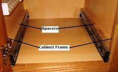 DIY Slide-Out Shelves Tutorial   Kitchen shelves, Shelving and Small ...