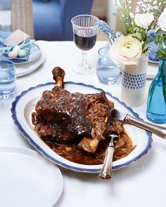 For a truly impressive Sunday lunch, try sticky, slow-roasted lamb – it's marinated overnight to take the sweet, spicy flavours to the next level.
