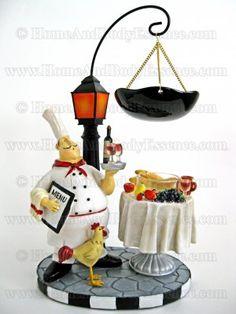 Yankee Candle Bistro Chef Hanging Tarts Wax Melt Warmer Burner Wine & Dine Cafe Classic Home Decor Bistro Kitchen Decor, Fat Chef Kitchen Decor, Rustic Kitchen Decor, Kitchen Themes, Kitchen Ideas, Yankee Candle Wax Warmer, Yankee Candle Reed Diffuser, Yankee Candles, Tart Warmer