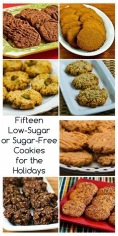 Fifteen Delicious Low-Sugar or Sugar-Free Cookies to Bake for the Holidays (many are gluten-free) [from Kalyn's Kitchen] #LowSugarChristmasCookies #GlutenFree