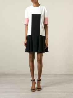 Alexander Mcqueen Colour Block Dress