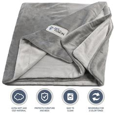 (NEW) PetFusion Premium Pet Blanket. Reversible Gray Micro Plush. (100% soft polyester) ** Be sure to check out this awesome product. (This is an affiliate link and I receive a commission for the sales)