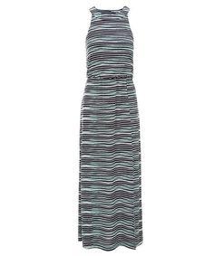 Blurred Stripe Maxi Dress