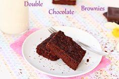 Double Chocolate Brownies #glutenfree #vegan #desserts   http://www.roxanashomebaking.com/double-chocolate-brownies/