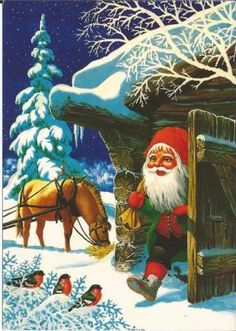 Otto Wiese Moe - WIMO Christmas 2017, Christmas Crafts, Penny Black, Leprechaun, Goblin, Vintage Cards, Vintage Postcards, Illustrations, Scandinavian