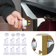 8pcs Magnetic Cabinet Lock Children Protection Kids