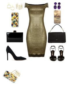"""""""Limited Inighi Fringe Bottom Dress"""" by eme-bassey on Polyvore featuring Sophia Webster, Gianvito Rossi, DKNY, Vita Fede and BauXo"""