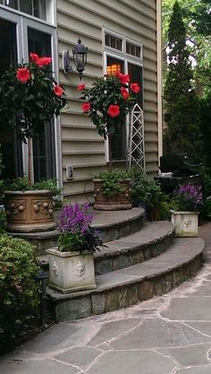 Front Door Inspirations Images Of Wooden Front Door Steps Backyard Exit With Outlet Near Frame Patio Stairs Front Door Ideas - Decoration For Home Exterior Stairs, Exterior Front Doors, Patio Doors, Balcony Door, Exterior Siding, Front Porch Steps, Front Stairs, Front Porches, Patio Steps