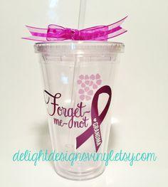 Alzheimer's Awareness Forget-Me-Not Tumbler by #delightdesignsvinyl on #Etsy