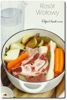 Chicken soup with beef recipes Polish Recipes, Polish Food, Calzone, Chicken Soup, Soups And Stews, Beef Recipes, Pizza, Yummy Food, Fish