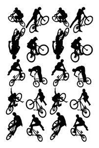 boys bmx room | 20 BMX BIKER WALL ART STICKERS DECAL CHILDREN KIDS ROOM BORDER BOYS ...