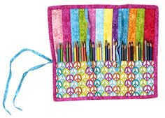Pencil Roll-up Accessory Case - Free Pattern from Fabric Editions