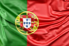Flag of Portugal. Free stock photos for personal and commercial use Algarve, Portugal Flag, National Flag, Zodiac Quotes, Free Stock Photos, Backdrops, Instagram Posts, Canvas Fabric, Flags