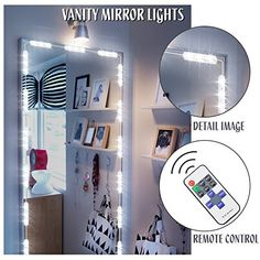 Vanity light, Makeup Mirror Light TaoTens Bathroom Vanity Light Kit, DIY Mirror Light Kit for Cosmetic Hollywood Make Up Mirror with Remote Control White(Mirror Not Included) White Mirror, Diy Mirror, Hollywood Makeup Mirror, Dimmable Light Bulbs, Bathroom Vanity Lighting, Light Bathroom, Dressing Mirror, Makeup Mirror With Lights, Remote