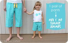 Mini & Me Summer PJs Tutorial - Peek-a-Boo Pages