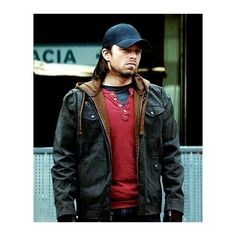 Bucky Winter Soldier Jacket Civil War ($129) ❤ liked on Polyvore featuring avengers, bucky barnes and marvel