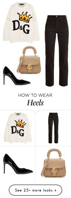 """""""Untitled #713"""" by ahlamalmalki on Polyvore featuring Dolce&Gabbana, Eve Denim and Burberry"""