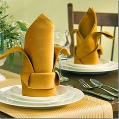 napkin folding styles for everyday and holidays - 35 Beautiful Examples of Napkin Folding  <3 <3