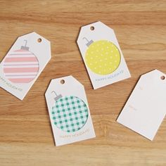 Personalize your gifts this year with these free printable gift tags!