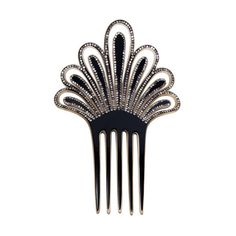 Preowned Deco Hair Comb (365 AUD) ❤ liked on Polyvore featuring accessories, hair accessories, hair, jewelry, 1920s, multiple, 1920s hair accessories, rhinestone comb, hair combs and rhinestone hair comb