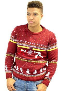 Street Fighter Ken Vs. Ryu Ugly Christmas Sweater
