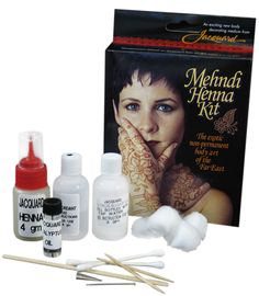 Mehndi Henna Kit- All inclusive Henna kit has everything you need to try out this exotic non-permanent body art