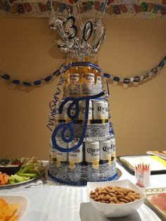 Creative and Unique Birthday Gifts Ideas for Your Boyfriend – Beer Cake Beer Birthday Party, Birthday Cake For Him, Diy Birthday Gifts For Friends, Unique Birthday Gifts, Birthday Ideas For Men, Beer Bottle Cake, Beer Can Cakes, Cake For Boyfriend, Beer Decorations