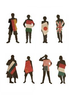 Hetalia | Major Nations: Germany,N.Italy,Japan,United Kingdom,Russia,China,United States of America, and France.