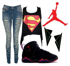 """Air Jordan 7 ""Raptors"""" by milankscott ❤ liked on Polyvore featuring мода, NIKE, Crafted, ASOS, women's clothing, women, female, woman, misses и juniors"