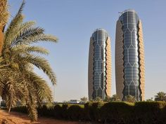 The Al-Bahar-Towers, an example of a responsive facade, using an intelligent geometrical distribution of shading devices.