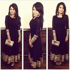 Black & Gold Anarkali