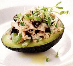 Fresh tuna salad with avocado