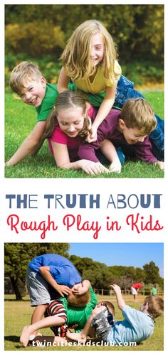 Twin Cities Kids Club Blogs: The Truth About Rough Play in Kids - Perhaps you are worried that your kids are the only ones that fight with one another like they are in a wrestling match. Maybe you worry that rough play in kids means that they are secretly dealing with anger issues. | Kids | Games | Fun Games | Indoor Games | Kids Activities | Game Day | Game Art