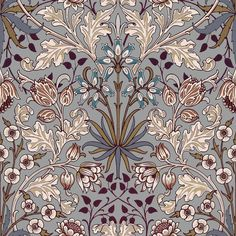 Part of the HOUSE OF HACKNEY x WILLIAM MORRIS AW15 collection: Hyacinth Dove Grey http://www.houseofhackney.com/collections/hyacinth.html