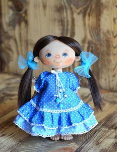Купить Варя. Текстильная кукла. Интерьерная кукла. Игровая кукла. - бирюзовый, кукла